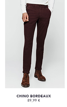 CHINO SLIM BORDEAUX