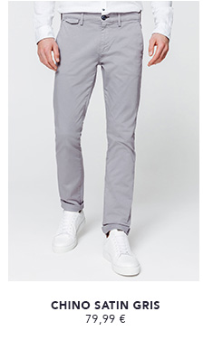 CHINO SATIN GRIS CLAIR