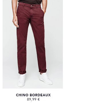 CHINO FASHION BORDEAUX